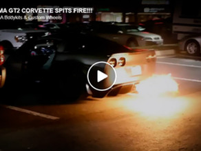 LOMA 1250 HP CORVETTE GT2 WIDEBODY SPITS HUGE FIRE WHILE LOUD REVS, INSANE SOUND IN MARYLAND,USA!