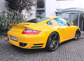 YELLOW LOMA PORSCHE 997 TURBO RECEIVES ENGINE TUNING TO 670 HP AND A SET OF 20-INCH FORGED WHEELS!