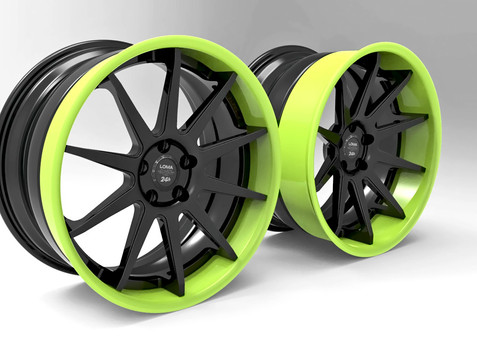Custom Forged Concave Wheels LOMA BLACK EDITION