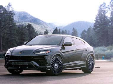 2021 Lamborghini Urus with TrackSpec Custom Forged Wheels.