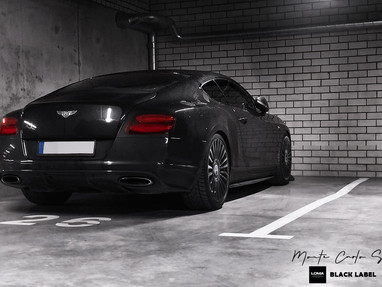 Stanced Bentley GT on 22 Inch Custom Rims.
