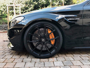 710 HP MERCEDES C63T AMG MENACING THE STREETS ON 20-INCH LOMA RS1-SL TRACK SPEC FORGED WHEELS!