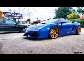 CUSTOM LAMBORGHINI GALLARDO IN ATHENS, GREECE ON THE BEST 20-INCH CUSTOM CONCAVE RIMS BY LOMA WHEELS