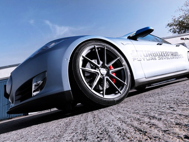 Tesla Model S Custom Forged Wheels.