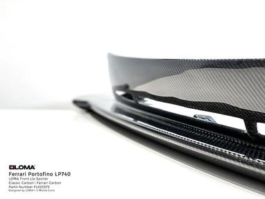 Ferrari Portofino Body Kit Carbon Front Spoiler.
