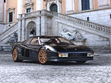 Ferrari Testarossa Custom Forged Wheels.