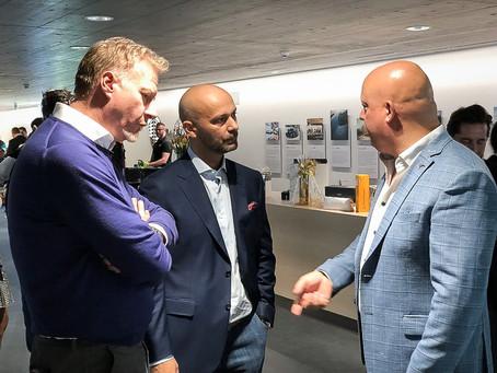 Mario Radosavljevic in discussion with Christian von Koenigsegg and Martin Reichmann (Aston Martin)
