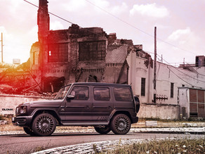 2020 LOMA MERCEDES G63 AMG TUNING ON 23-INCH MONTE CARLO STAR FORGED WHEELS - STANCED IN THE SUNSET!