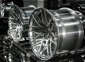 Custom Forged Luxury Concave Wheels fresh out from the machining.