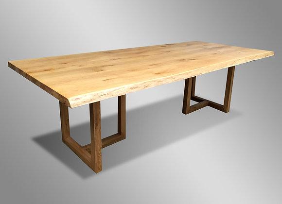 Oak Liveedge Dining Table (All Wood)