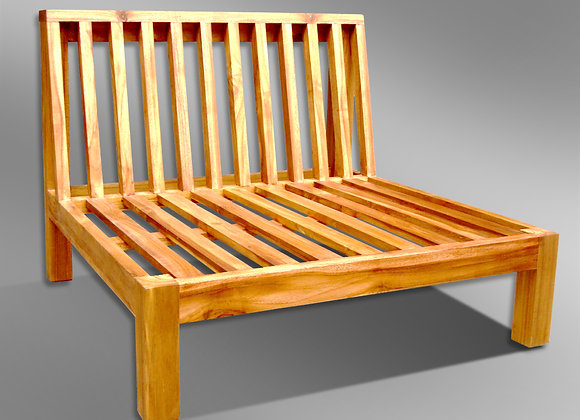 Sleek Slatted Sectional 1 Seater