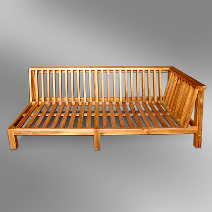Sleek Slatted Sectional Bench 2 Seater