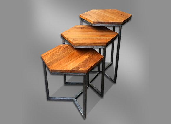 Hexagonal Nestling Table