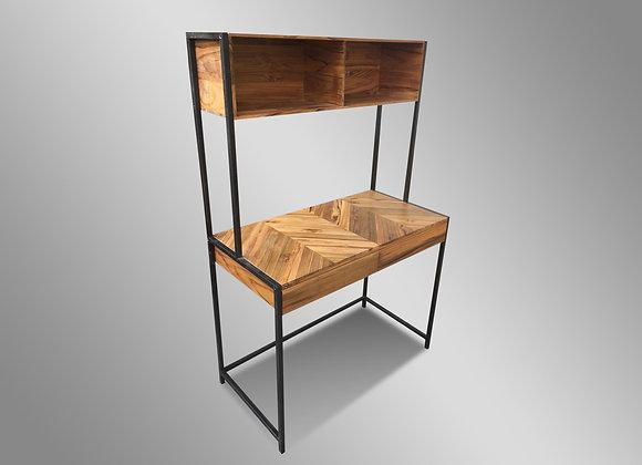 Chevron Desk with Shelf