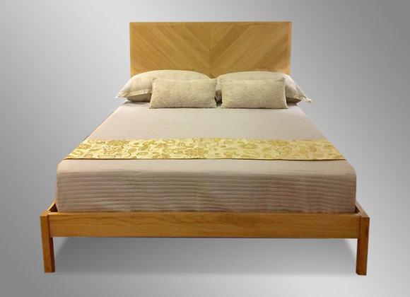 Chevron Bed (Plain Footboard)