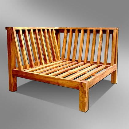 Sleek Slatted Sectional Corner Bench