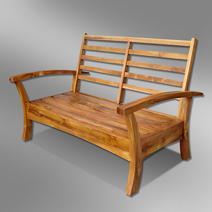 Sleek Deep Seating Bench 2 Seater