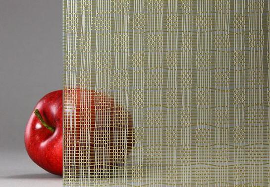 Vidrio Laminado Decorativo con Malla metalica