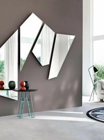 Espejo con forma geometrico