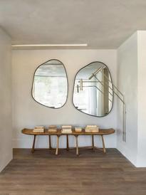Espejos con forma roca