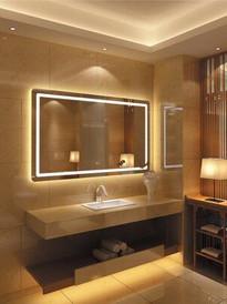 Espejo con bastidor y luz LED