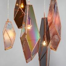 Lamparas de vidrio reciclado