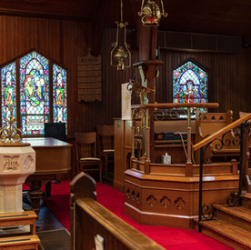 Our Pulpit and Baptismal Font