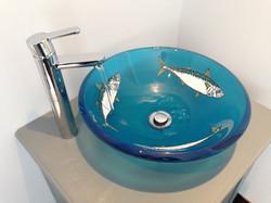 Enameled Basin Sink.