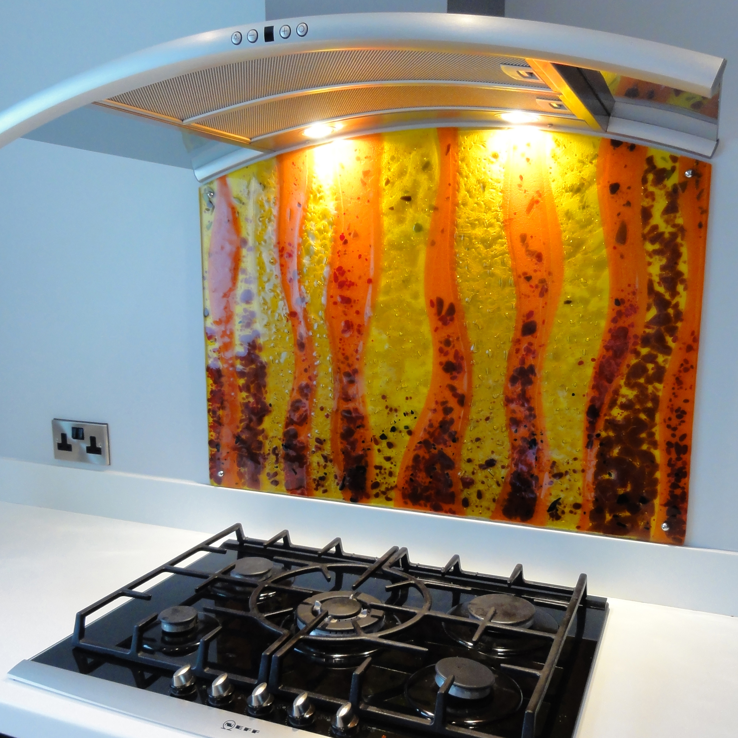 Shaped Kitchen Splashback.