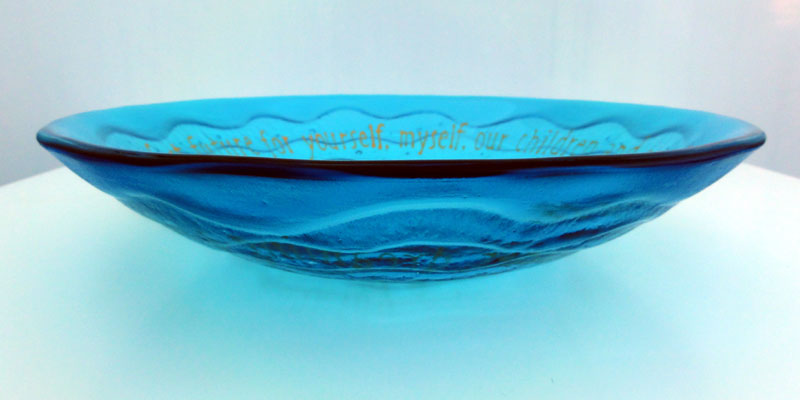 Kiln-carved Poem Bowl.