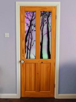 Hand-Painted Door Panels.