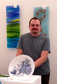David Stephens Fused Glass Art Cornwall
