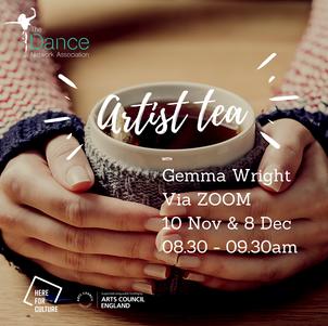 Artist Tea 10 Nov and 8 Dec