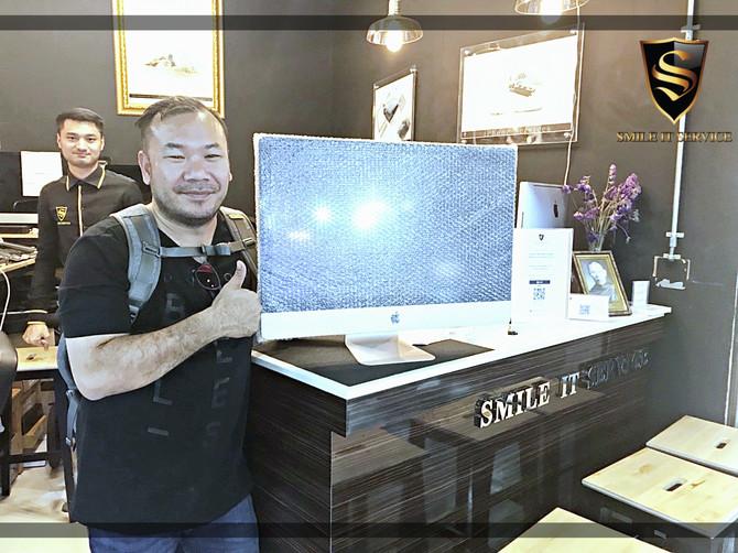 """ลูกค้าเจ้าของเครื่อง iMac 27"""" มาติดตั้ง Bootcamp และ Software"""