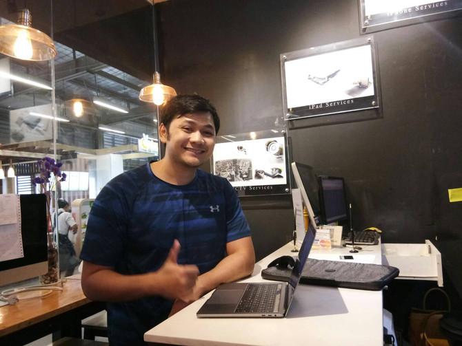 ลูกค้าเจ้าของเครื่อง Macbook Pro มาลง Software