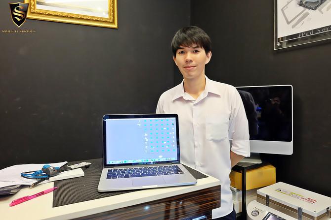 ลูกค้าเจ้าของเครื่อง Macbook P มาซ่อมเมนบอร์ด