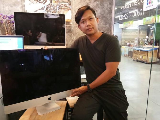 """ลูกค้าเจ้าของเครื่อง iMac 27"""" มาเปลี่ยน HDD เป็น SSD และทำการลง OS"""