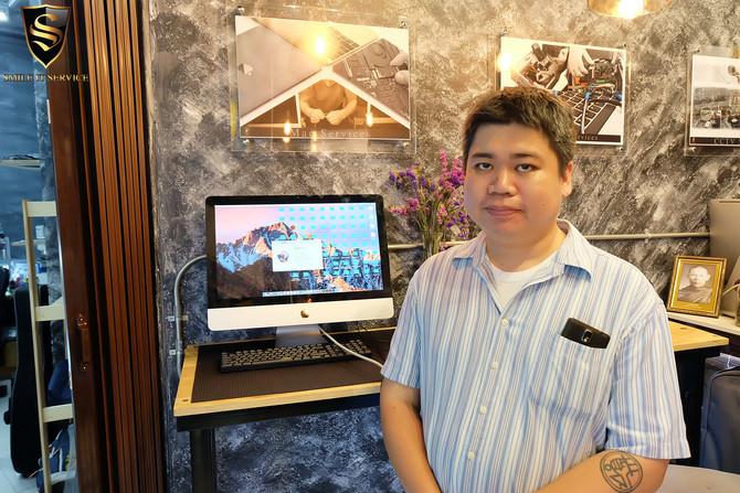 """ลูกค้าเจ้าของเครื่อง iMac 21.5"""" มาเปลี่ยนแรม โดยอัปเกรดเป็น 16gb"""