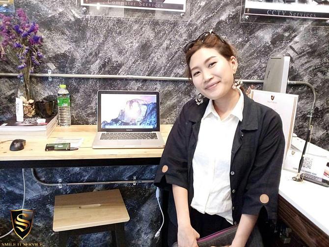 ลูกค้าเจ้าของเครื่อง Macbook Pro มาเปลี่ยนฮาร์ดดิสก์ โดยอัปเกรดเป็น SSD และลง OS ใน SSD