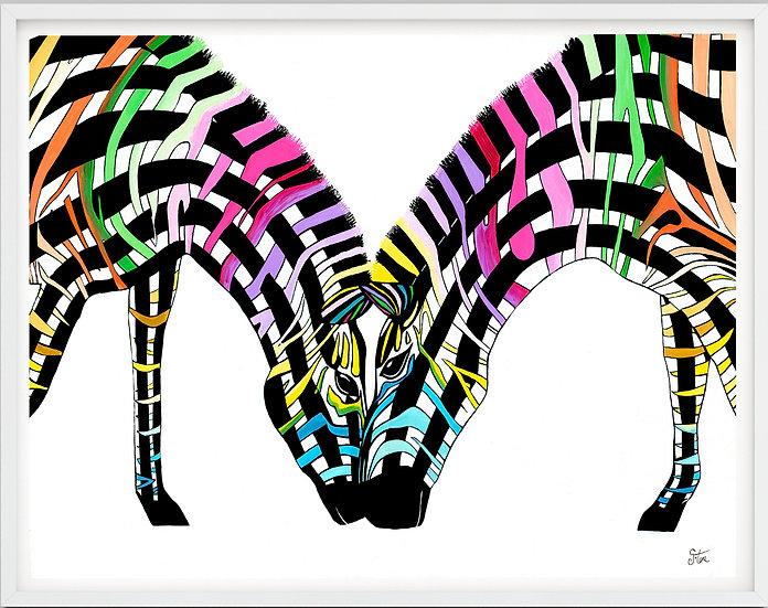 Zebra Date Giclée Print