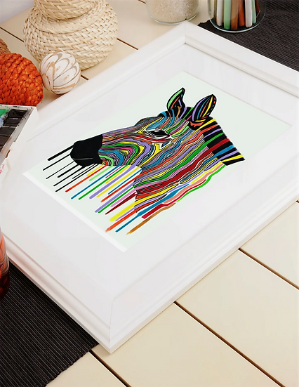 Drippy A4 Mounted Print