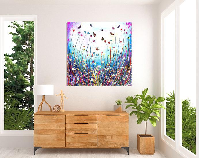 Butterfly Swirl Canvas Print