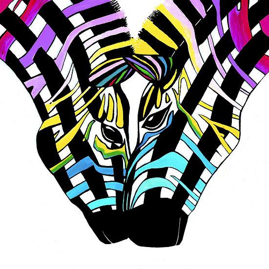 Zebra Touch Giclée Print