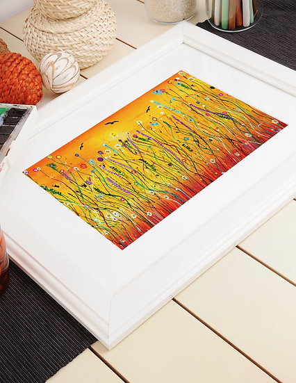 Meadow Harvest A4 Mounted Print