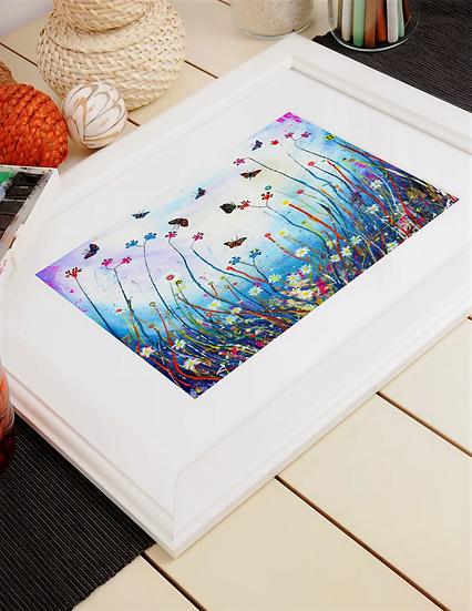 Butterfly Swirl  A4 Mounted Print