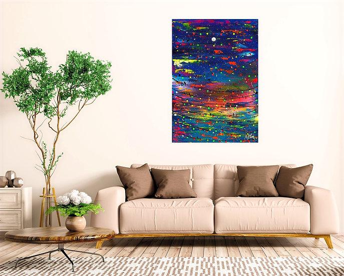 Fairy lights at Moonlight Canvas Print