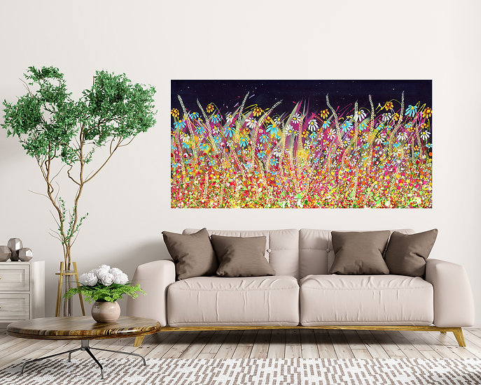 Beauty beyond the flowers Canvas Print