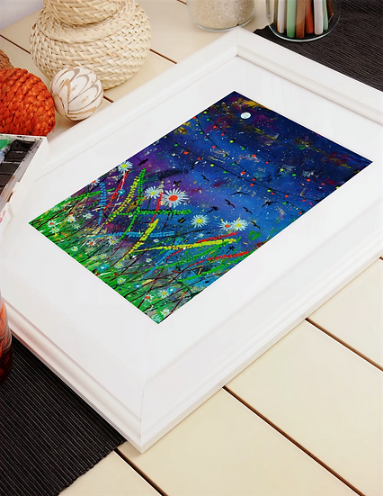 Midnight on the Meadow  A4 Mounted Print