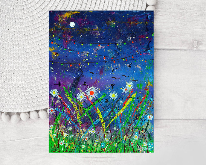 Midnight on the meadow Greeting Card