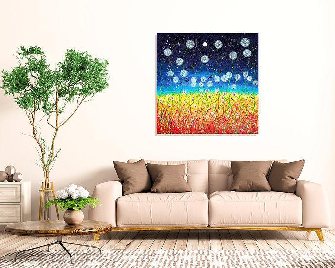 Dandelion Meadow Canvas Print